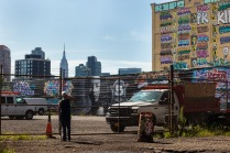 Manhattan skyline from 5Pointz ground level