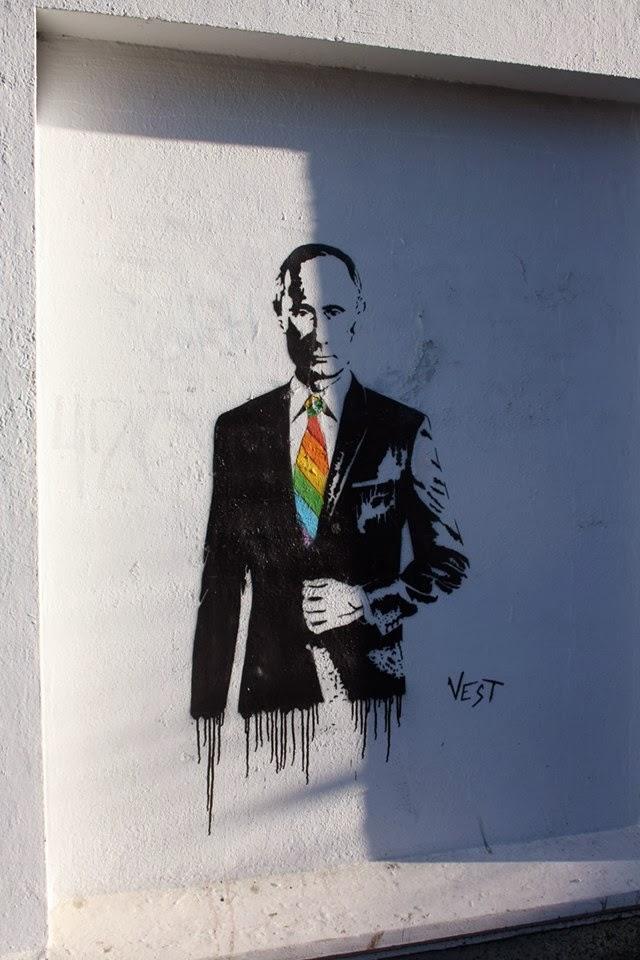 Comrade Putin street art