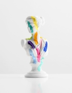 A Grecian Bust With Color Tests - paint on found sculpture - 2013 - 7 x 3 x 2,5 - 008