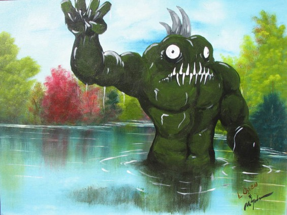 adding-monsters-to-thrift-store-landscape-paintings-chris-mcmahon-1-565x425